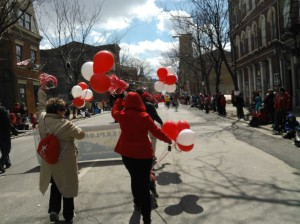 The Cincinnati Reds Opening Day parade. Photo with permission of David Oeters.